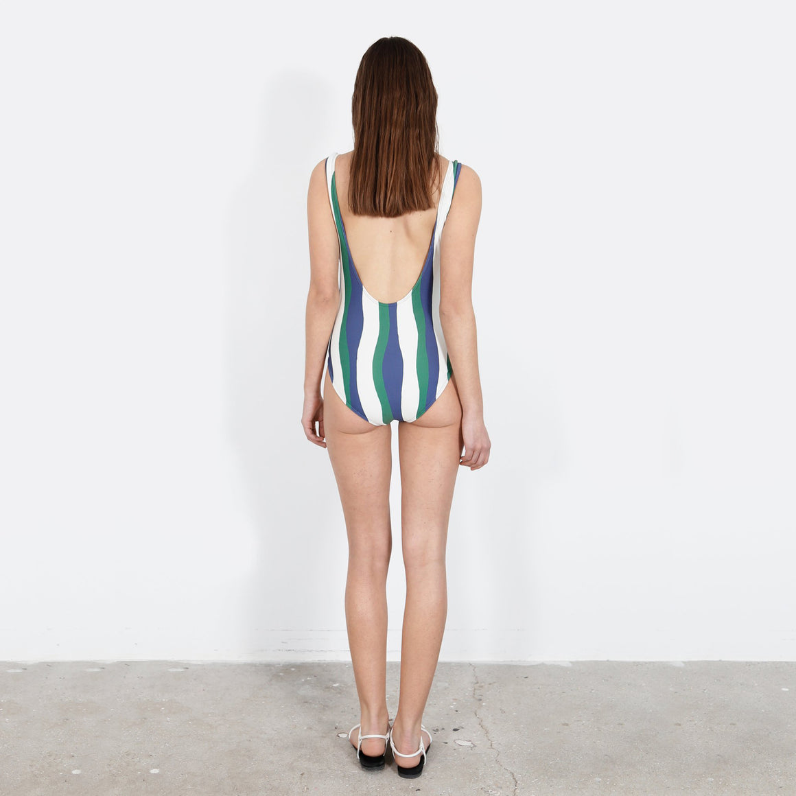 Uno Suit in Wavy Stripes