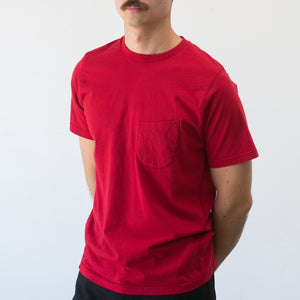 Pocket Tee Single Jersey in Red