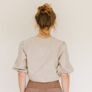 Sadie Top in Metallic Linen - individual-medley