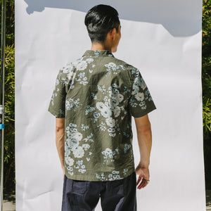 Road Shirt in Olive Flower