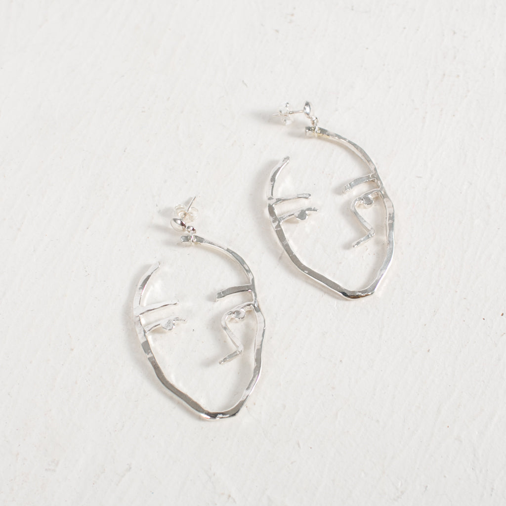 Sister Earrings in Silver