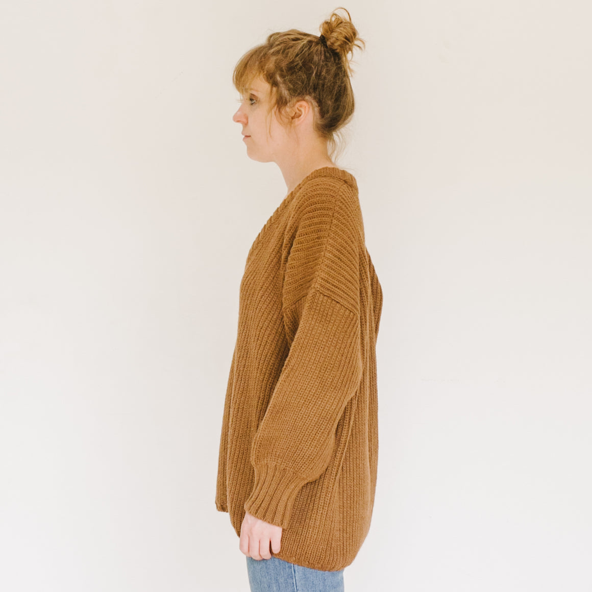 Long V Sweater Ginger - individual-medley