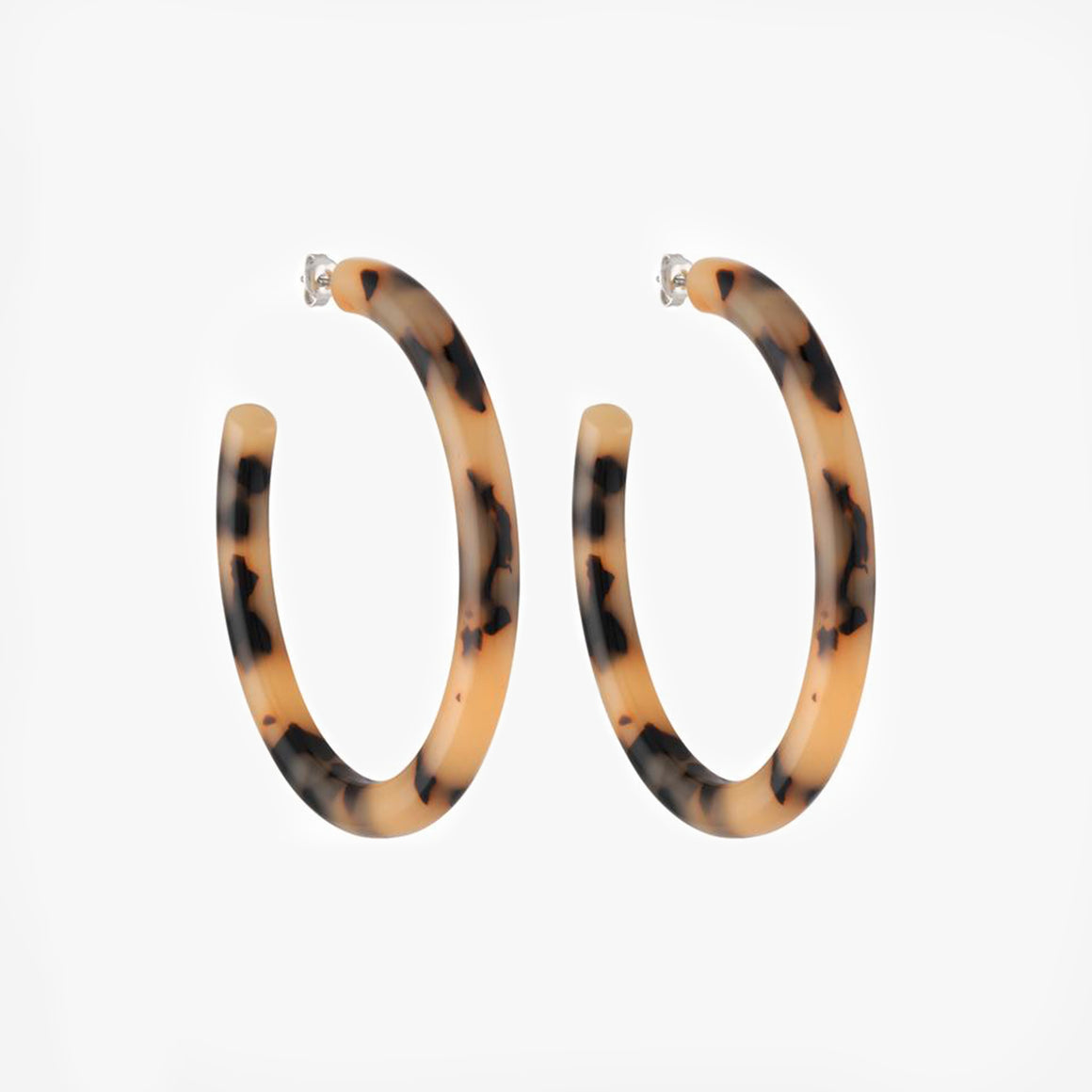 Bold Hoops in Blonde Tortoise