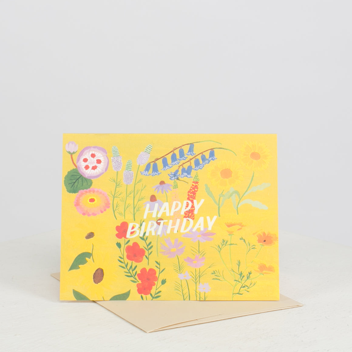 Yellow Floral Birthday Card