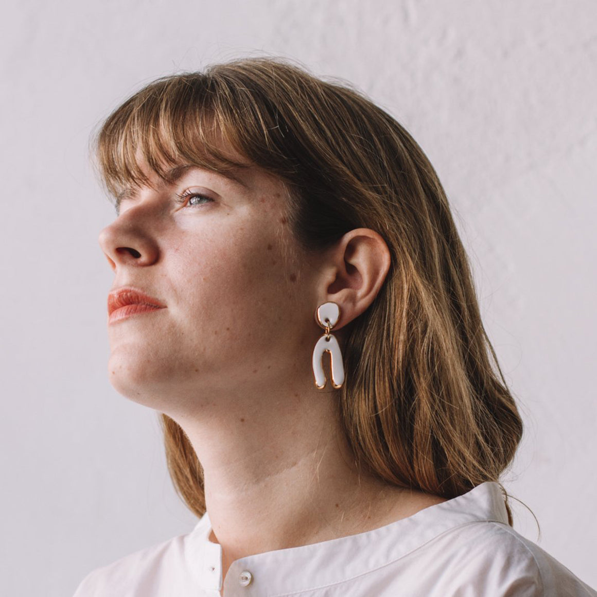 Mountain White Earrings - individual-medley