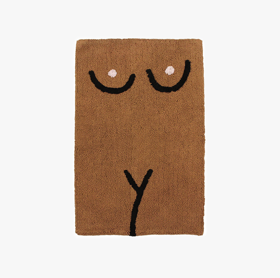 Private Parts Bathmat Brown