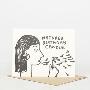 Nature's Birthday Candle Card - individual-medley