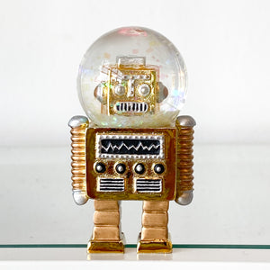 Robot Water Globe Ornament