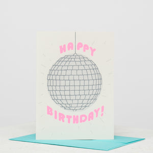 Disco Ball Birthday Card - individual-medley
