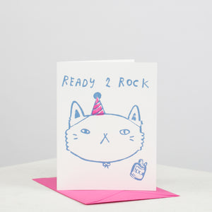 Ready 2 Rock Cat Card - individual-medley