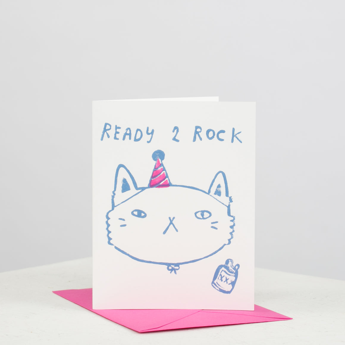 Ready 2 Rock Cat Card