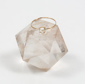 Herkimer Diamond Ring 14k Gold