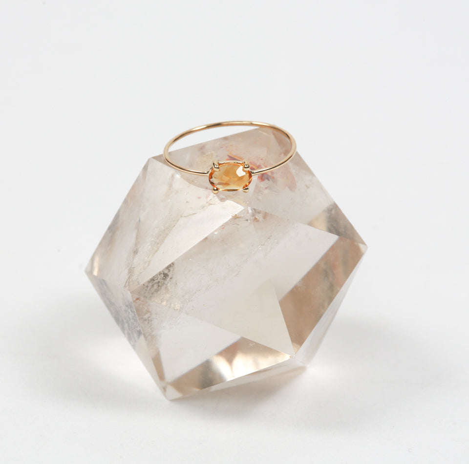 Citrine Prosperity Ring