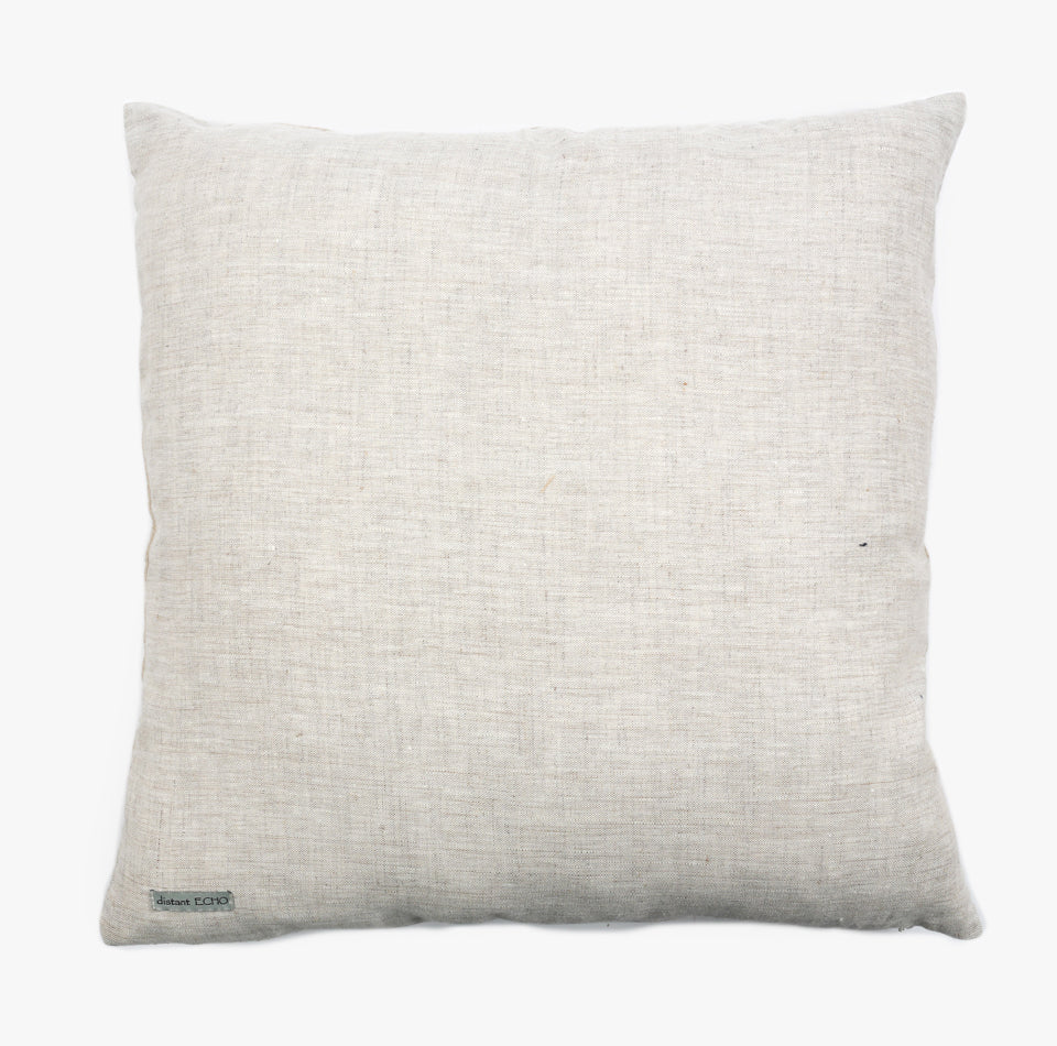 Hand Woven Pillow in Tan