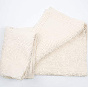 Quilted Throw in Natural