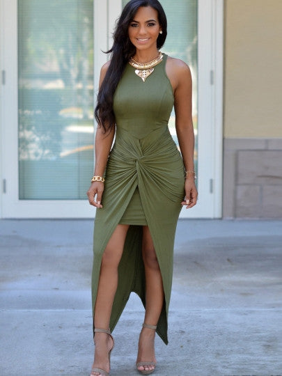 Double Layer Mint Maxi Dress