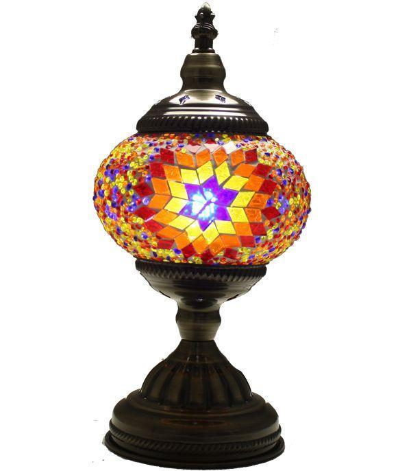 Handmade Colourful unique Glass Mosaic Lamp, LED Bulb Included 1002