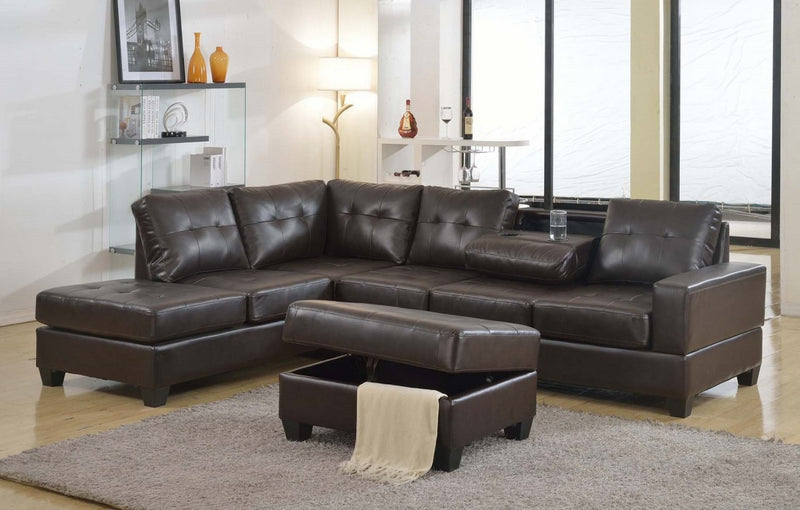Leatherette Livingroom Sectional