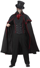 California Costumes Jack The Ripper Set, Black/Red, Large