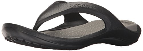 Crocs Athens Flip Flop, Black/Smoke, 10 US Men/12 US Women