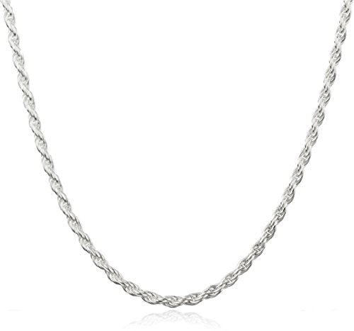 Sterling Silver 2mm Rope Chain (sterling-silver, 24 Inches) (I-2592 (FBM))