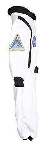 Aeromax Jr. Astronaut Suit with NASA patches and diaper snaps, WHITE, Size 6/12 Months