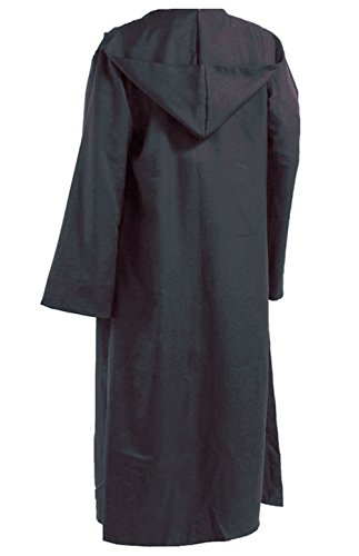 Men TUNIC Hooded Robe Cloak Knight Fancy Cool Cosplay Costume Grey, Large