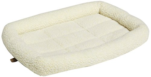 AmazonBasics Padded Pet Bolster Bed - 22 x 15 inches