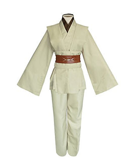 Men TUNIC Hooded Robe Cloak Knight Fancy Cool Cosplay Costume,Ivory(tunic),Large,Large,Ivory(tunic)