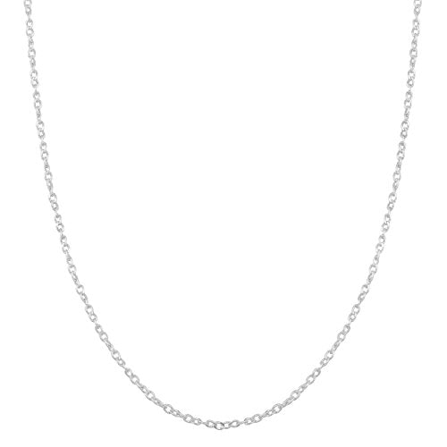 Sterling Silver 1mm Twisted Curb Chain (20 inch)