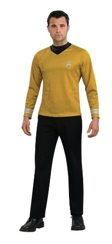 Rubie's Star Trek Gold Star Fleet Uniform Shirt, Gold, Small Costume