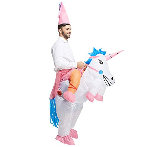86b6f740ef241 ... TOLOCO Inflatable Unicorn Rider Costume | Inflatable Costumes For Adults  Or Child|Halloween Costume ...