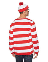 elope Where's Waldo Adult Costume Kit, Red/White, Large/X-Large