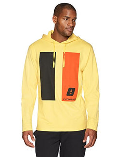 Flying Ace Men's Heavy Jersey Hooded Long Sleeve T-Shirt with Graphic Print x-Large Yellow