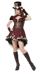 California Costumes Women's Steampunk Girl Adult, Burgundy/Brown, Medium