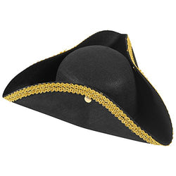 Revolutionary War Hat - Colonial Hat - Tricorn Hat - Revolutionary Costumes Funny Party Hats
