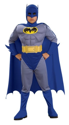 Batman Deluxe Muscle Chest Batman Child's Costume, Small