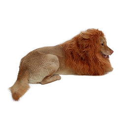 Lion Mane for Dog-Dog Costume DIBBATU Lion Wig for Large or Medium Dogs Halloween Christmas Gift Fancy Hair (Red brown)