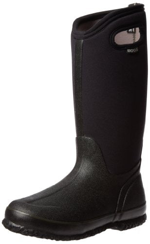 Bogs Women's Classic High Handle Waterproof Insulated Boot,Black,6 M US