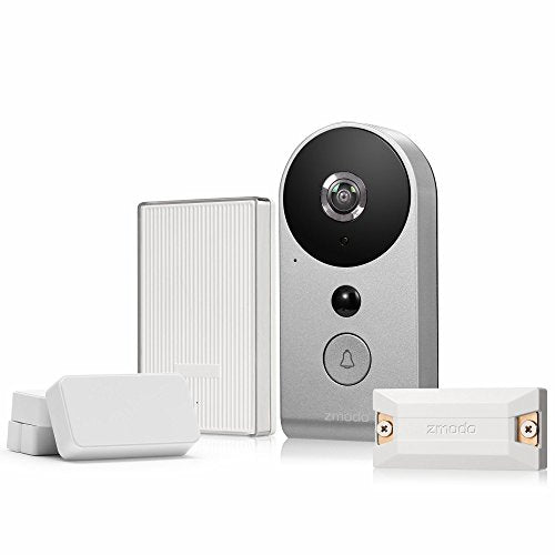 Zmodo Smart Greet Wi-Fi Video Doorbell - Smart Home Hub and WiFi Extender and 2 Pack Door/Window Sensors - All Inclusive Bundle