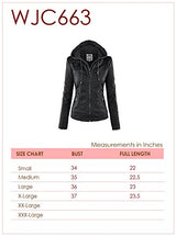 WJC663 Womens Removable Hoodie Motorcyle Jacket S CAMEL