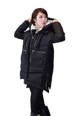 Orolay Women's Thickened Down Jacket Black 2Xl