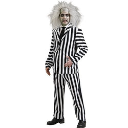 Rubie's Beetlejuice Deluxe Costume, Black/White, X-Large