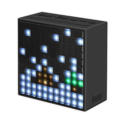 Divoom Timebox Smart Portable Bluetooth LED Speaker with APP-Controlled Pixel Art Animation, Notification and Build- In Clock/ Alarm - Black