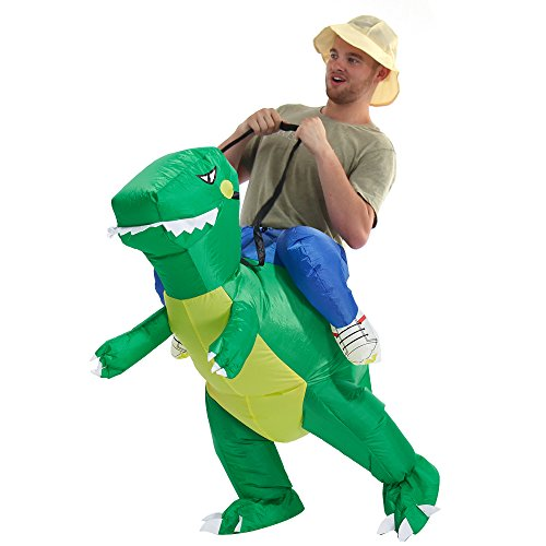 YEAHBEER Inflatable Halloween Costume Adult and Children Carry On Animal Fancy Dress Costume (Dinosaur for Adult)