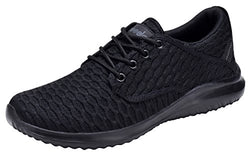 COODO CD7003 Women's Fashion Sneakers Casual Lightweight Sport Shoes All Black-7