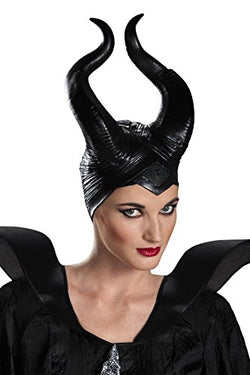 Disguise Women's Disney Maleficent Movie Maleficent Deluxe Adult Horns Costume Accessory, Black, One Size