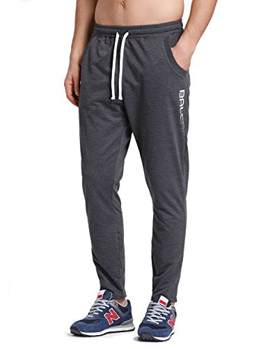 Baleaf Men's Tapered Athletic Running Pants Dark Gray Size S