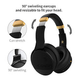 COWIN E8 Active Noise Cancelling Headphone Bluetooth Headphones with Microphone Hi-Fi Deep Bass Wireless Headphones Over Ear Stereo Sound 20 Hour Playtime for Travel Work TV Computer Phone - Black