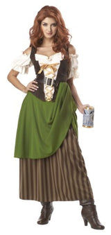 California Costumes Tavern Maiden Adult Costume, Olive/Brown, Medium
